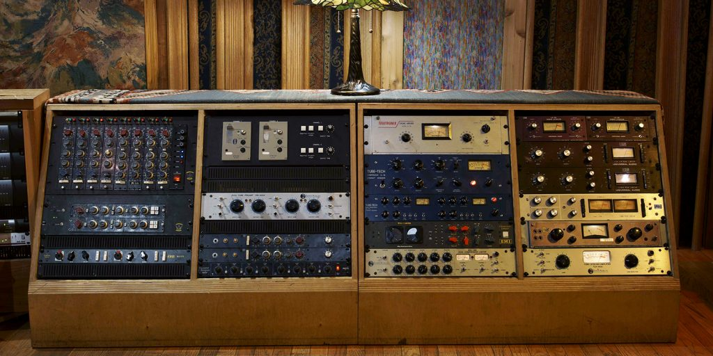 Studio A Control Room right outboard gear rack