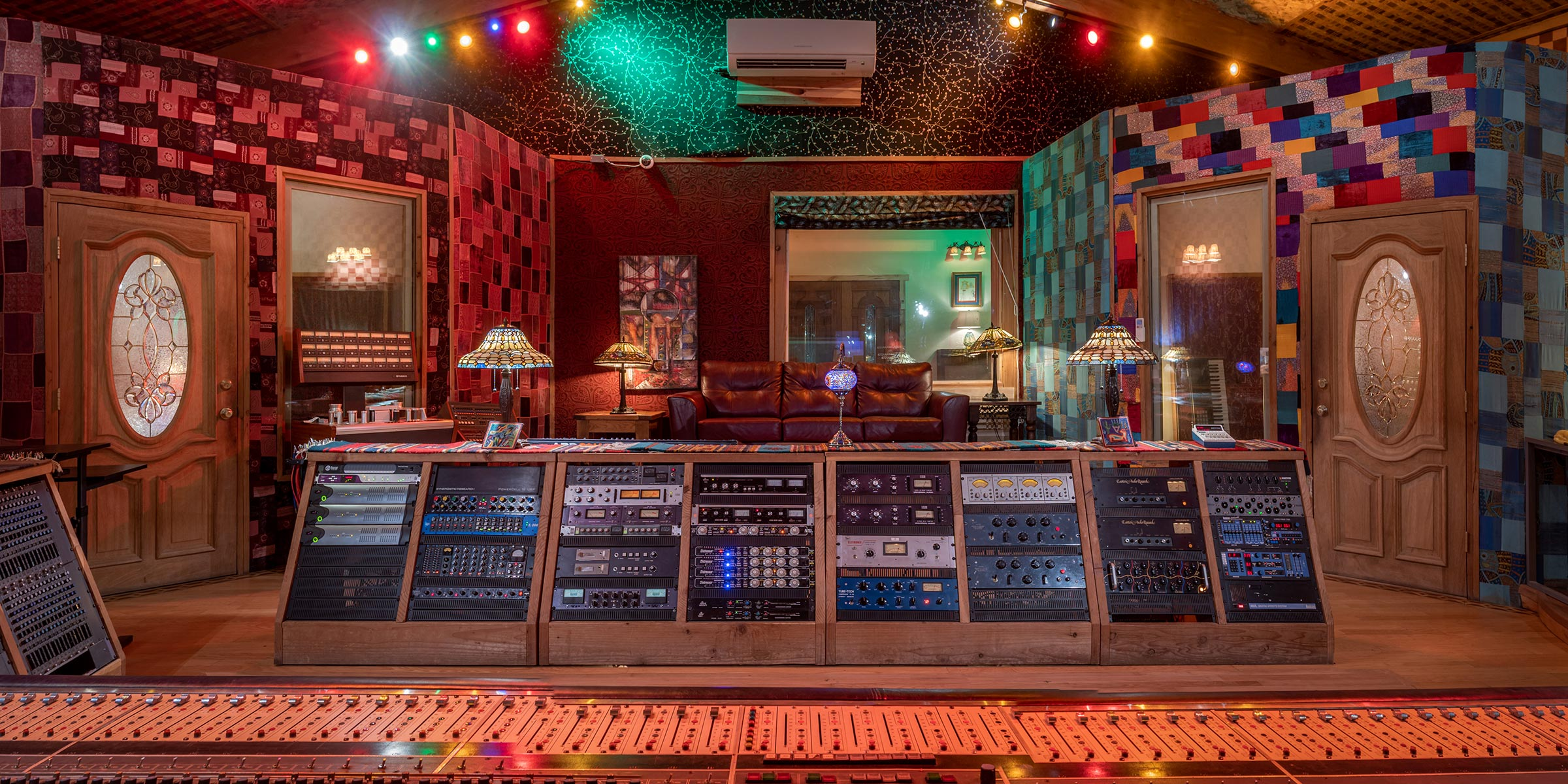 Neve Control Room looking from the console