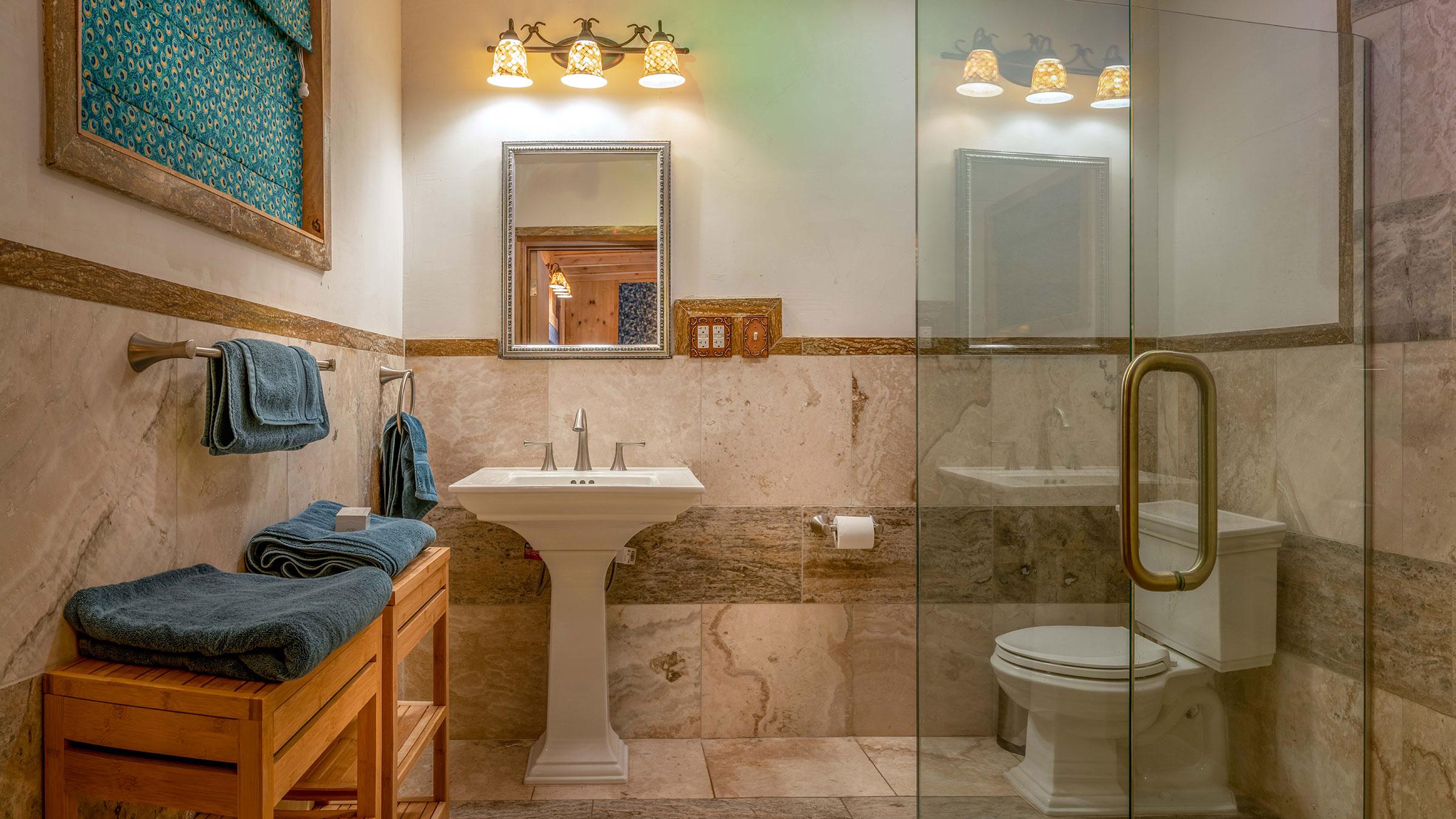 Neve Bungalow room No.2 bathroom
